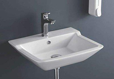 IVOC Ceramic Modern Wash Basin | Premium Design | Table Rectangle size 52 x 43 x 14 cm| Tabletop Sink | Wall Mounted | Suitable for Bathroom Living Room Washroom Toilet Kitchen, DREAM-1026(Only Basin)