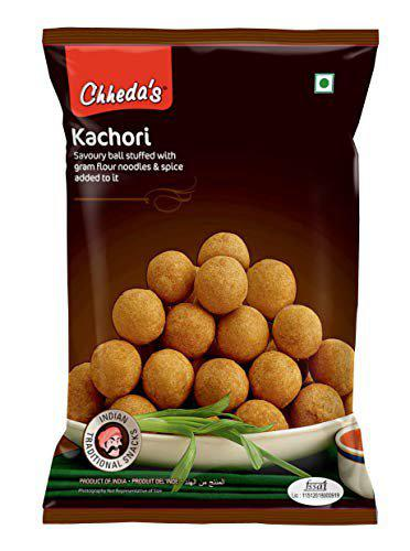 Chheda's Kachori - Crispy Spicy Snack - with Spicy Mixture Filling (350g Pack of 1)