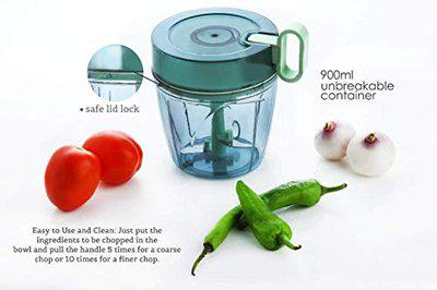 SK Multipurpose Manual Vegetable, Dry Fruit and Onion Chopper and Quick Cutter Machine for Kitchen 900 ML