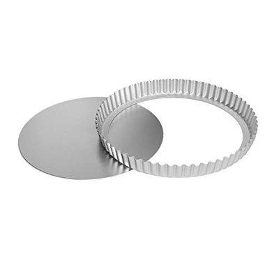Rinkle Trendz Aluminium Round Pie Dish Quiche Pan Cup Cake Tart Mould with Removable Bottom 7 Inch for Baking in OTG Oven