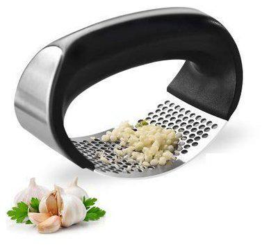 SPIRITUAL HOUSE Garlic Press | Stainless Steel Kitchen Garlic Crusher and Plastic Portable Ginger Mincer Squeezer Press Rocker Kitchen Chopper with Handle.