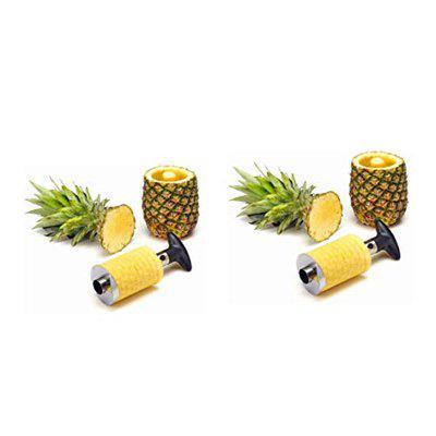 Sagar Enterprise Stainless Steel Multi Purpose Pine Apple & Coconut Cutter, Pineapple Slicer (2 Piece)- S.E-32