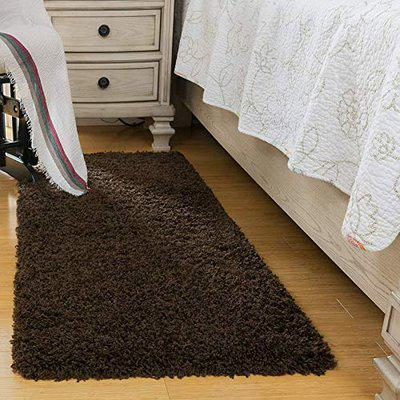 Homecrust Flurry Antislip Micro-Poly Super Soft and Fluffy Feel Bedside Runner (22x55 inches) Design-3