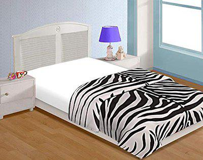SHREE Soft and Light Weight Designer Printed Zebra Printed Pattern Double Bed Dohar/Ac Comforter for Home