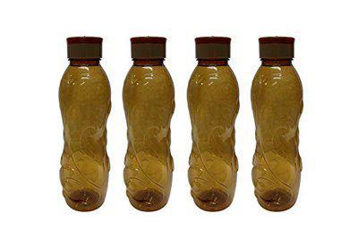 Masterware Plastic Water Bottle Set Of 4 Bottles, Graphic