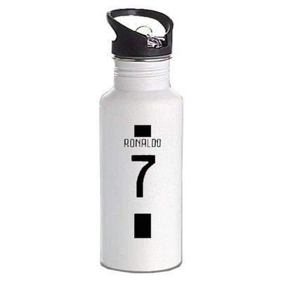 Gen7 Ronaldo CYGames Printed Bottle | Lightweight Sipper Bottle, 600 ml [White]
