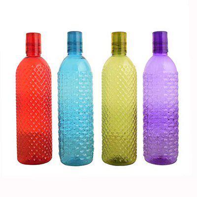 Aarushi Sparkle Unbreakable Plastic Water Bottles Set of 8 Multicolor