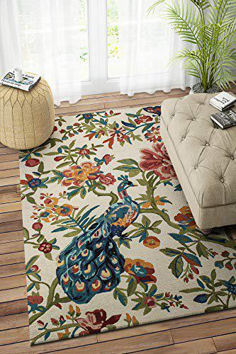 Imperial Knots Multi-Color Floral Hand Tufted Carpet 4X6 Feet