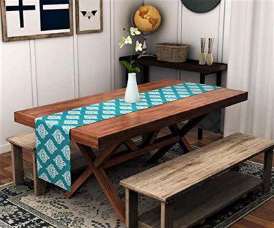 Urban Space 100 Premium Cotton Table Runner for 4 Seater Table, 13 inch x 60 inch, Turquoise