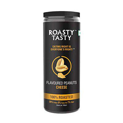Roasty Tasty Roasted Peanuts Flavoured Cheese Healthy Snack For Weight Management - 150 GM