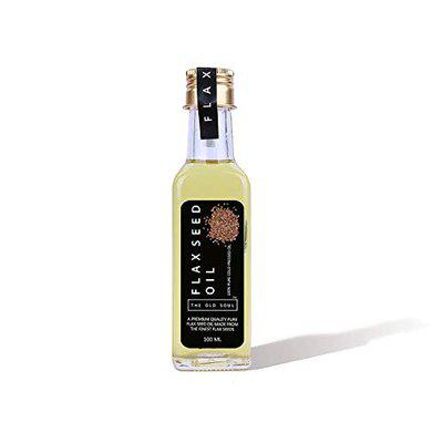 THE OLD SOUL   100 Pure Cold Pressed Flax Seed Oil   Alsi Ka Tel   Glass Bottle (100 Ml)