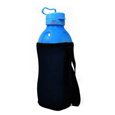 Sarthak Uphaar Jumbo 2 Litre Water Bottle with Bottle Cover 2000 ml Bottle Use for HOT & Cold Water (Blue with Cover)