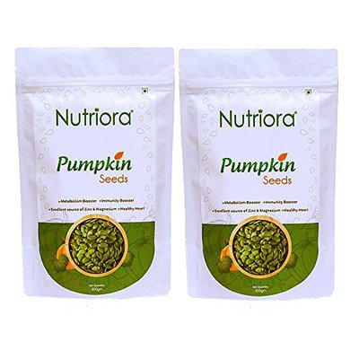 Nutriora Raw Pumpkin Seeds - High Protein and Fiber Rich Superfood - 400gm(2 packs of 200gm each)
