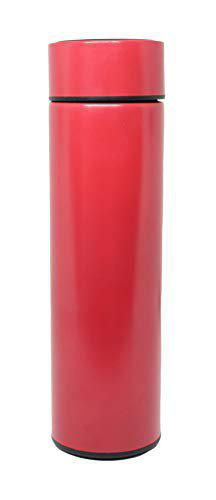 Confidence Hot and Cold Water Bottle with LED Display for Office and Travelling (500 ml, Red)