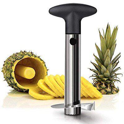 Radhe Krishna Practical Pineapple Cutter Pineapple Fruit Slicer Stainless Steel Clip Home Kitchen Tools