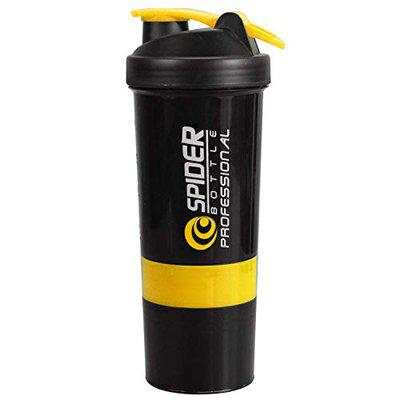Spider Shaker Bottle 500 ml with 2 Compartments (Yello) 500ml