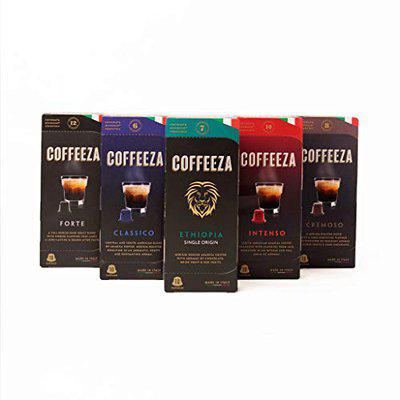 Coffeeza Coffee Capsules, Favorites Variety Pack (60 Pods, Compatible with Nespresso Original Machines)