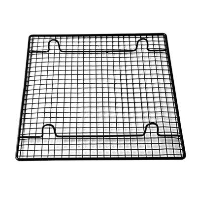Grizzly Heavy Rectangle Nonstick Wire Cooling Rack with Stand(Black)