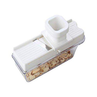 Kamview Dry Fruits Vegetable Chopper Cutter Slicer Dicer for Kitchen with Container (White)