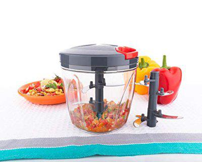 Shree Enterprises Vegetable Chopper, Cutter, Mixer for Kitchen with 6 Stainless Steel Blade (900 ML)