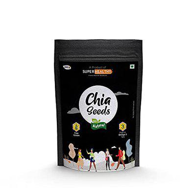 Superhealthy Chia seeds | No Gluten | High in Omega 3 fats | Antioxidant , High in protein and Fibers | Dietary Food for Immunity Boost and General Wellness (200g)