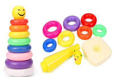 atorakushonBaby Stacking Ring Colorful Rainbow Stacker for Educational Learning Sorting Ideal Baby Toy for 12 Months and Up