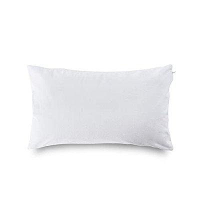 Wakefit Terry Cotton Pillow Protector, Dustproof and Water Resistant - Set of 2, White, (18 Inch x 28 Inch)