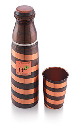Pipal 02 Copper bottles with Glass 1000 Rust