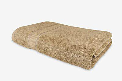 Roseate Elegance 100 Cotton (550 GSM 70x140 cm) Large Bath Towel Ultra Soft Super Absorbent Anti Bacterial (Beige) Pack of 1