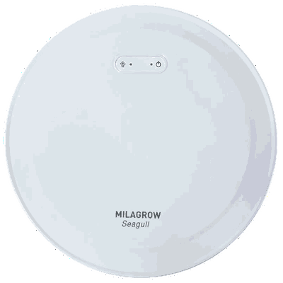 Milagrow 30 Watt Robotic Vacuum Cleaner (650 ml, Seagull, White)