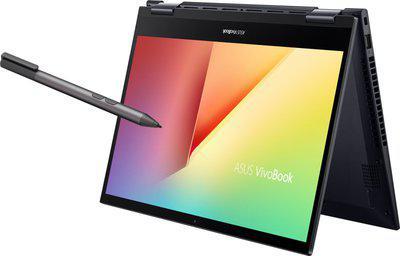 ASUS VivoBook Flip 14 Laptop AMD Ryzen 3-4300U 4 GB RAM 256 GB SSD 35.56 cm 14 inch Windows 10 Home 64bit Integrated AMD Radeon RX Vega 5 Graphics TM420IA-EC096TS Bespoke Black 1.6 kg