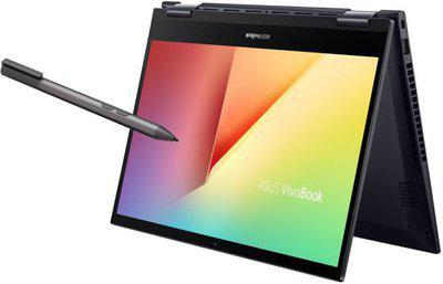 ASUS VivoBook Flip 14 2021 AMD Ryzen55500U 14-inch FHD Touch 2-in-1 Laptop 8GB RAM 512GB SSD Integrated Graphics Office 2019 Windows 10 Bespoke Black 1.5 Kg TM420UA-EC501TS