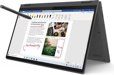 Lenovo Ideapad Flex 5 Core i3 11th Gen - (8 GB 256 GB SSD Windows 10 Home) Ideapad Flex 5 14LT05 UA 2 in 1 Laptop(14 inch, Graphite Grey, 1.5 kg, With MS Office)