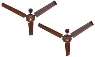 MinMAX 1200 MM Zen Delux M-1 Double Ball Bearing 5 Star Pack Of Two 1200 mm 3 Blade Ceiling Fan(Brown, Pack of 2)