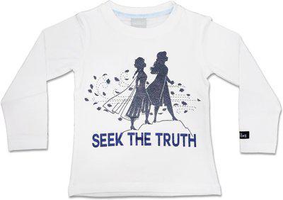 Disney Frozen Girls Tshirt White Seek The Truth