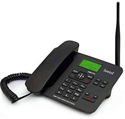 Beetel F1K Corded & Cordless Landline Phone(Black)