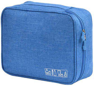 SUKHAD Portable Multi Purpose Makeup Organizer Bag Travel Toiletry Kit(Blue)