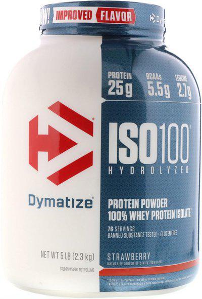 Dymatize ISO100 (Strawberry) Whey Protein(2.3 kg, Strawberry)