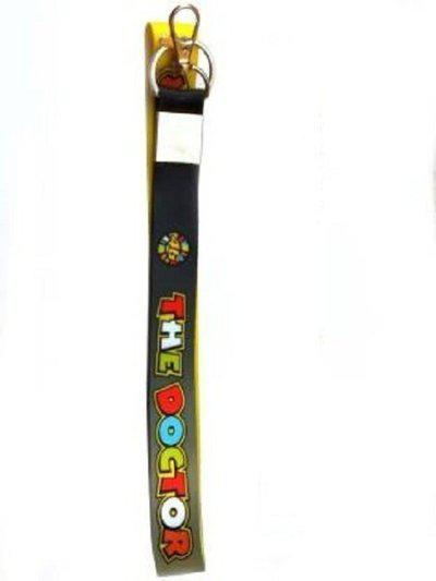 Techpro The Dr Rossi black&yellow ID tag Locking Lanyard(Multicolor)