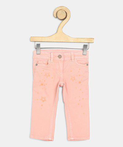 US Polo Kids Regular Baby Girls Orange Jeans