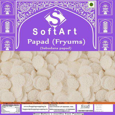 Soft Art Home Made Sabudana papad Fryums Fryums 250 g
