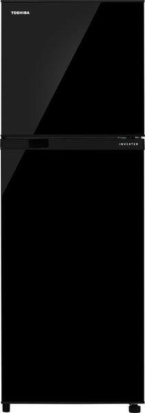Toshiba 252 L Frost Free Double Door Top Mount 2 Star (2020) Refrigerator(Black Uniglass, GR-A28INU(UK))