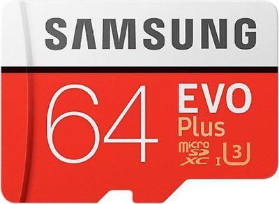 Samsung Evo plus 64 GB MicroSDXC Class 10 95 MB/s Memory Card