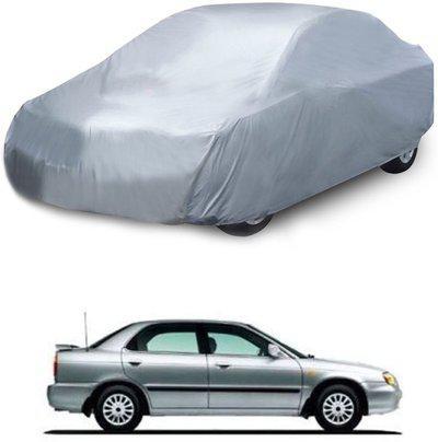 Deltakart Car Cover For Maruti Suzuki Baleno (Without Mirror Pockets)(Silver)