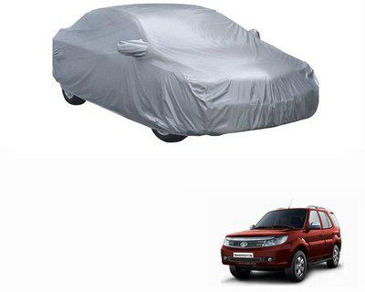 Carizo Car Cover For Tata Safari Storme (With Mirror Pockets)(Silver)