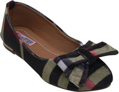 D'chica Girl's Black Ballet Flats-7.5 Kids UK (24 EU) (DCOC5562)