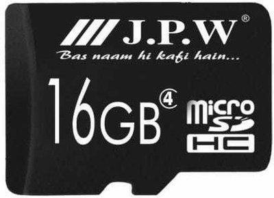 J.P.W 16 GB SD Card Class 4 16 MB/s Memory Card