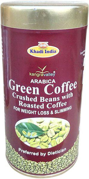 kangravalley Green Coffee Crushed Beans with Roasted Coffee Roast & Ground Coffee(100 g, Green Coffee Flavoured)