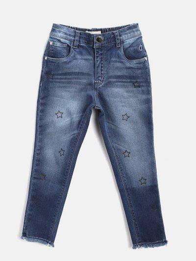 Gini & Jony Regular Baby Girls Blue Jeans
