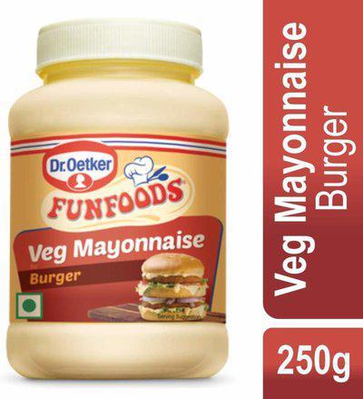 FUNFOODS FIIDSFUN VEG MAYONNAISE BURGER 250GM 250 g